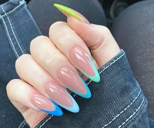 blue, nails, and pride image
