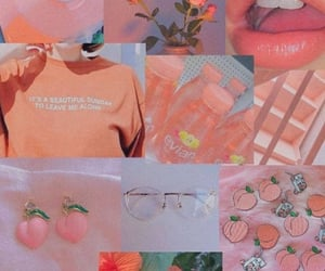 wallpaper, aesthetic, and peach image