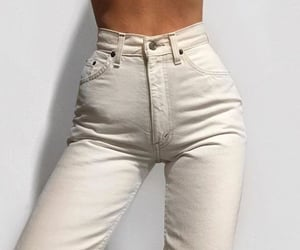 white, fashion, and jeans image