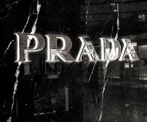 Prada, black, and aesthetic image