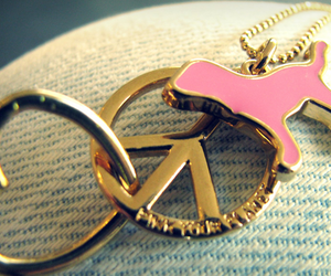 pink, peace, and heart image