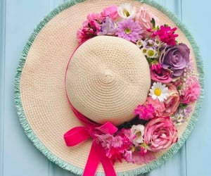 belleza, sombrero, and flores image
