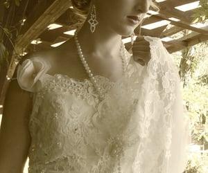 amy-jo tatum, wedding gown, and lace wedding dress image