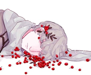 anime, art, and berries image