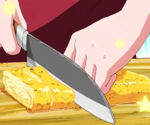 anime, gif, and anime food image
