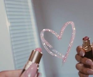 pink, lipstick, and aesthetic image