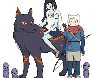 adventure time, marceline, and finn image