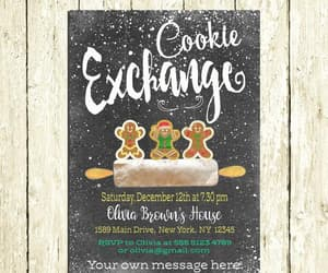 gingerbread man, holiday party, and holiday invitation image