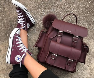converse, bag, and shoes image