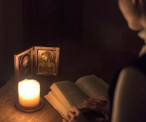 aesthetic, candle, and orthodox image
