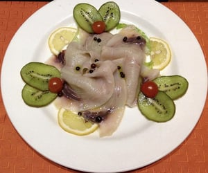 fish, fruit, and food image