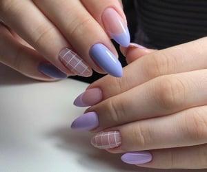 nails, purple, and art image