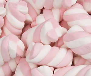 pink, marshmallow, and theme image