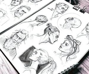 drawing, art, and pencil image