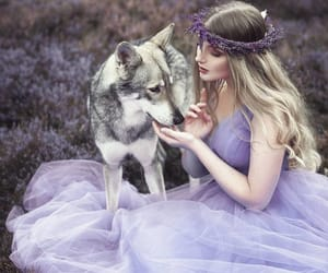 fairy tale, girl, and purple image