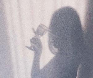 girl, shadow, and love image