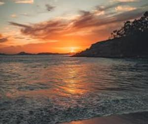 beach and sunset image