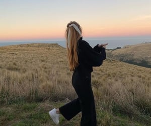 girl, sunset, and outfit image
