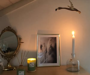 bird, candle, and decoration image