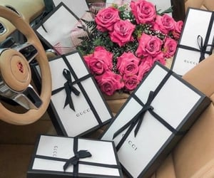 luxury, gucci, and flowers image