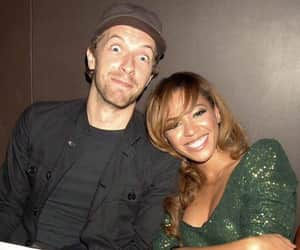 Chris Martin, green, and queen bey image