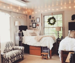 room, bedroom, and dorm image