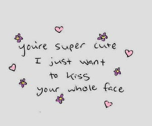 cute, love, and kiss image