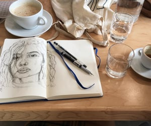 art, cafe, and paint image