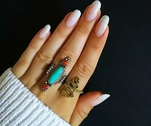 long nails, french manicure, and dope nails image