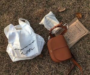 autumn, bag, and brown image