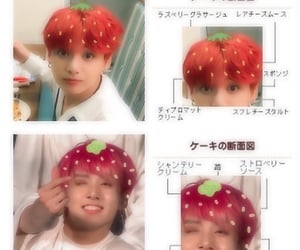 edit, strawberry, and bts image