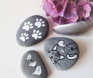 animals, rocks, and art image