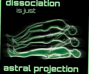 memes, dissociation, and astral projection image