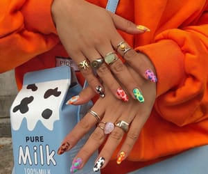 nails, nail art, and jewelry image
