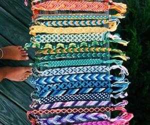 bracelet, rainbow, and friendship bracelets image