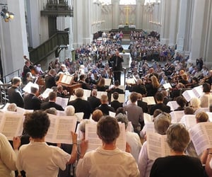 architecture, catholicism, and singing image