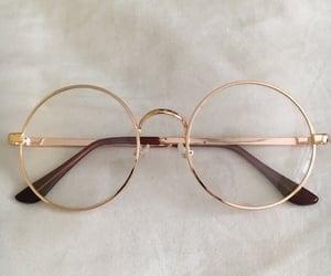 glasses, gold, and korean image