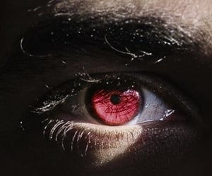 aesthetic, eyes, and burgundy image