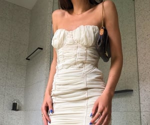 collar bones, dress, and fashion image