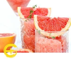 ice, thyme, and pink grapefruit image