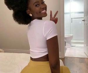 black women, chocolate, and makeup image