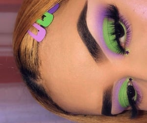 beauty, green, and purple image