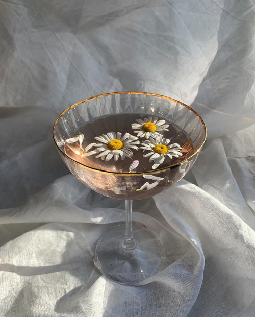 Image de drink, flowers, and aesthetic