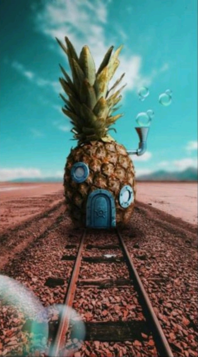 background, pineapple, and spongbob image