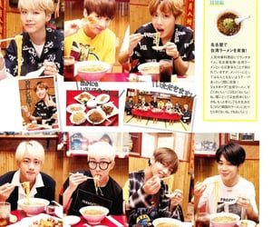magazine, scan, and bts image