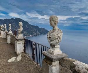 Amalfi coast, art, and blue sky image