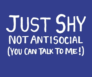 shy, antisocial, and talk image