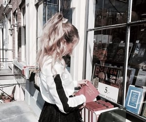 girl, books, and hair image