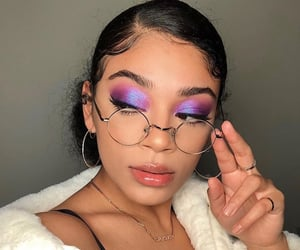 makeup, jasmine brown, and beauty image