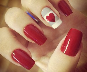 heart, red, and nail image